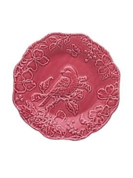 Picture of Plate 25,5 Blue Bird Dark Pink