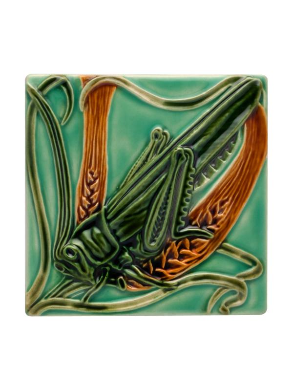 Bordallo Pinheiro  Tiles - Tile Grasshopper 14,5