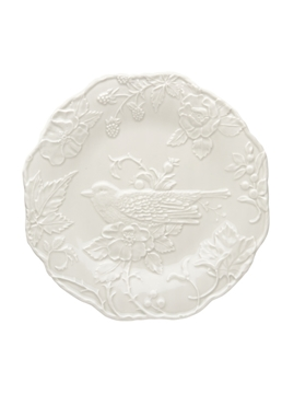 Picture of Plate with Robin 25,5 Sandy Grey