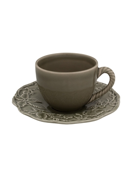 Picture of Tea Cup and Saucer Dark Grey