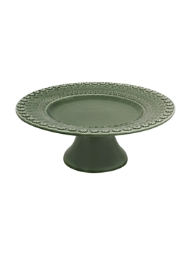 Picture of Fantasia - Cake Stand 22 Green Olive Tree